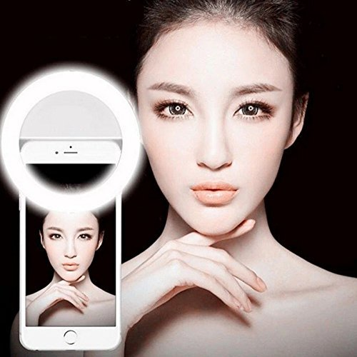 Horizon Selfie Light Ring Flash Stand Clip Case Fill LED Lights Camera Photography for iPhone 6/6s,iphone 6 plus/6s Plus iPad, Samsung Galaxy S7/S7 Edge, Galaxy Note 5, Blackberry (Cool Glow For Iphone 4 compare prices)
