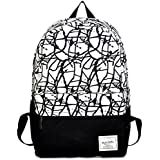 Fansela(TM) Casual Graffiti Canvas Travel Pack/Shoulder Daypack/School Backpack For Girls