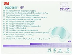 3M Tegaderm HP Transparent Film Dressing Frame Style 9543HP, 12 Pads (Pack of 4) by 3M