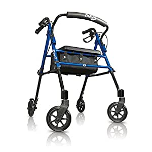 Hugo mobility 700 913 fit rollator walker with for Mobility walker