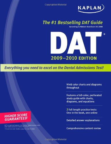 Kaplan Dat 2009-2010 Edition (Kaplan Dat (Dental Admission Test)) front-146567
