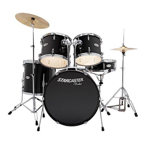 best price starcaster drum set black on sale drum sets. Black Bedroom Furniture Sets. Home Design Ideas