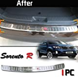 Stainless Steel Rear Bumper Trim Protector Door Cover 1P For 2013 KIA Sorento R