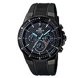 Casio Men's EF552PB-1A2V Black Resin Quartz Watch with Black Dial