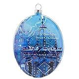 Hallmark Kansas City Plaza Lights Glass Disk Ornament