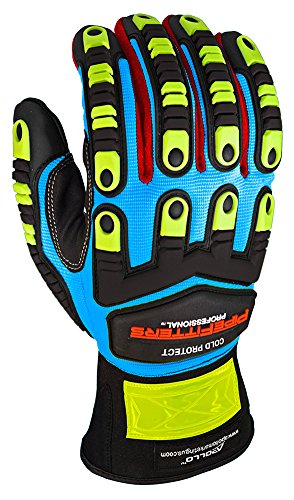 Apollo Performance Work Gloves 3021, Pipefitters Professional Cold Protect, Thinsulate fabric for Warmth, Impact Protection, NeverSlip Technology Grip, Abrasion Protection, Touch Screen Capabilities with Lightning Touch Technology, 1 Pair, Small, Blue Industrial Work Gloves