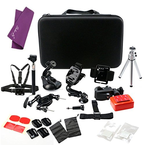 sales-lar-all-in-one-23pcs-set-bundle-accessories-kit-floaty-for-gopro-head-strap-mount-with-bag-che