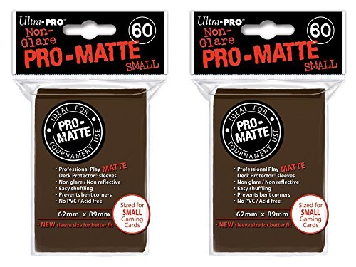 120 Ultra Pro Brown SMALL PRO-MATTE Deck Protectors Sleeves Colors Yugioh Vanguard [2 Packs of 60]