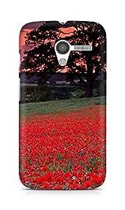 Amez designer printed 3d premium high quality back case cover for Motorola Moto X (Red Flowers)