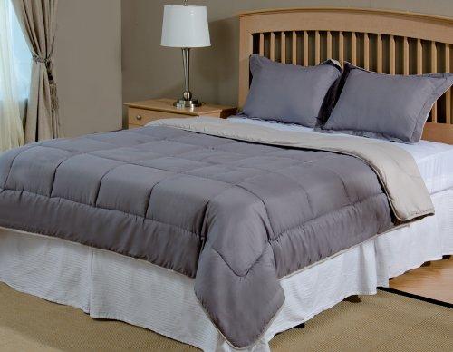 Reversible Mini Bed Set - 3 Piece - Dark (Cloud) Grey / Silver Grey