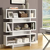 Hot Sale Monarch Specialties Hollow-Core High Modern Bookcase, 55-Inch, White