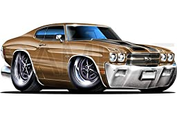 Chevelle SS 1970 Bronze 48 inch Wall Skin Graphic