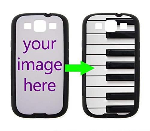 Fashion Design Piano Keyboard Personalized Custom Case For Samsung Galaxy S3 I9300/I9308/I939 Case ( Laser Technology )Black / White Hard Plastic