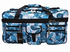 Wheeled Holdall 30 inch Floral Luggage Bag on Wheels 605FAqua