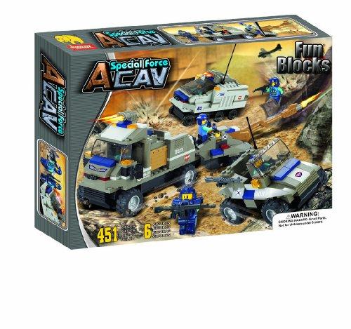 Fun Blocks 'Special Forces' Military Brick Set A 451 Pieces (J5613)