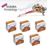 Nasara Kinesiology Tape 5 Rolls (Beige, 5.00 M)