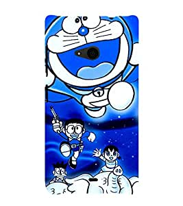 printtech Doraemon Back Case Cover for Nokia Lumia 535::Microsoft Lumia 535