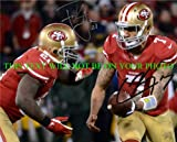 COLIN KAEPERNICK AND FRANK GORE AUTOGRAPHED SIGNED AUTO 8×10 RP PHOTO SAN FRANCISCO 49ers AMAZING