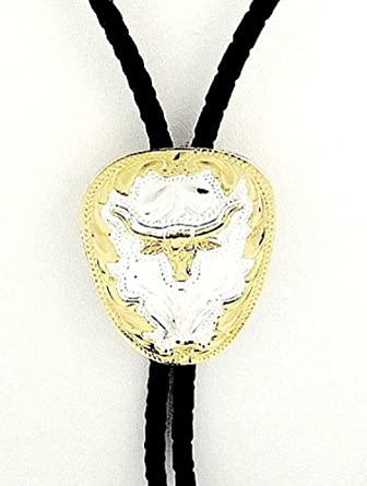 German Silver Longhorn Bolo Tie at Amazon Men's Clothing