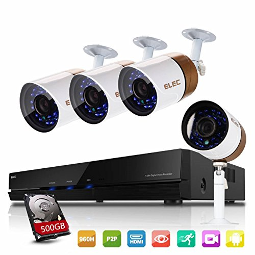 elec 4ch 960h hdmi dvr security camera system 4 channel outdoor cctv video recorder surveillance. Black Bedroom Furniture Sets. Home Design Ideas