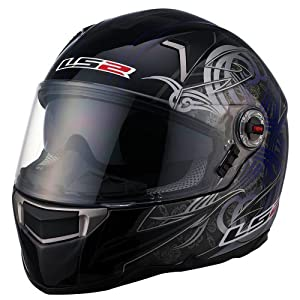 LS2 Helmets FF396 FT2 Full Face Motorcycle Helmet with Demon Graphic (Blue, Small)