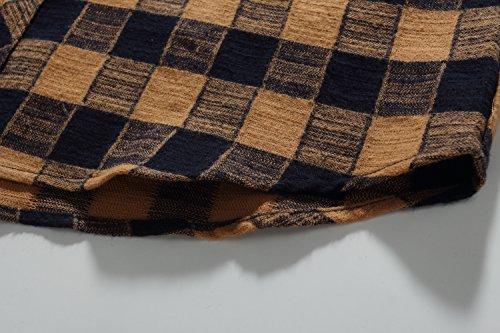 SSLR Men's Gingham Flannel Vintage Long Sleeve Shirt 6