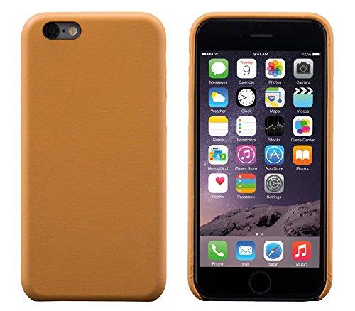 iPhone 6 / 6S Cover Custodia Posteriore, FUTLEX Custodia realizzato in vera pelle Stile Classico - Marrone chiaro - Ultra sottile - Design e taglio preciso - realizzato a