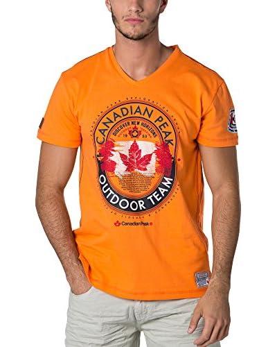 CANADIAN PEAK Camiseta Manga Corta Jeineken Naranja