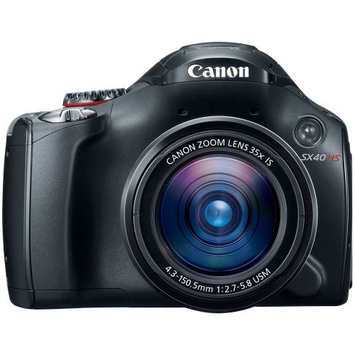 Buy Bargain Canon SX40 HS 12.1MP Digital Camera with 35x Wide Angle Optical Image Stabilized Zoom an...