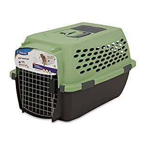 Petmate 21850 Vari 24-Inch Pets Kennel, 15-20-Pound, Sprout/Coffee Ground