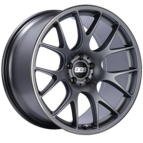 BBS CH-R Titanium Wheel with Painted Finish and Polished Stainless Steel Rim (19x10