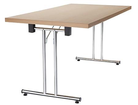 Mesa plegable Amstyle 138 cm plegable, apilable en madera de haya