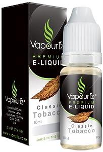 Vapouriz 10ml Classic Tobacco E Liquid