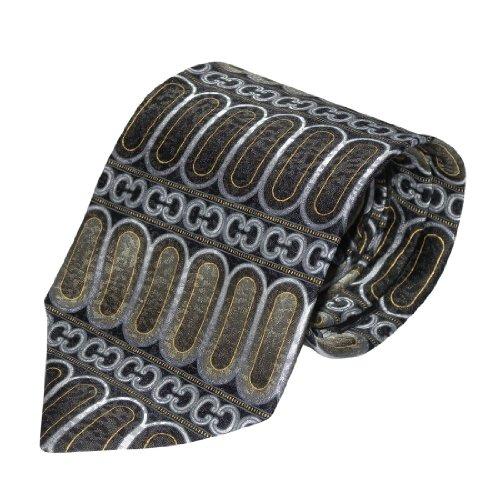 Mens La Cravatta 100% Silk Graphic Pattern Woven Necktie / Neck Tie