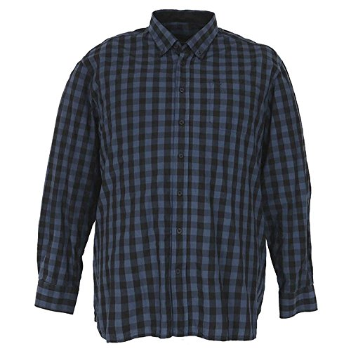 Camicia taglie forti uomo manica lunga Maxfort CARENS scozzese - Verde, 2XL