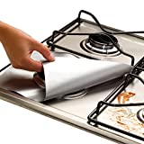 Cooks Innovations Non-Stick Gas Range Protectors - Silver - Set of 4