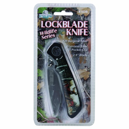 River's Edge Blister Packed Pocket Knife (Deer), Silver
