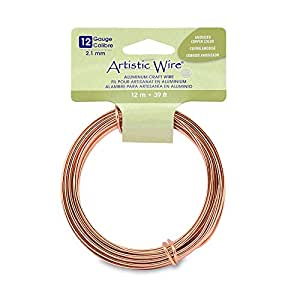 Artistic wire 12 gauge round aluminum craft wire 39 3 for 24 gauge craft wire