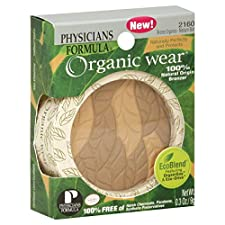 Physicians Formula Organic Wear Bronzer, 100% Natural Origin, Bronze Organics - Medium Skin 2160, 0.3 oz (9 g)
