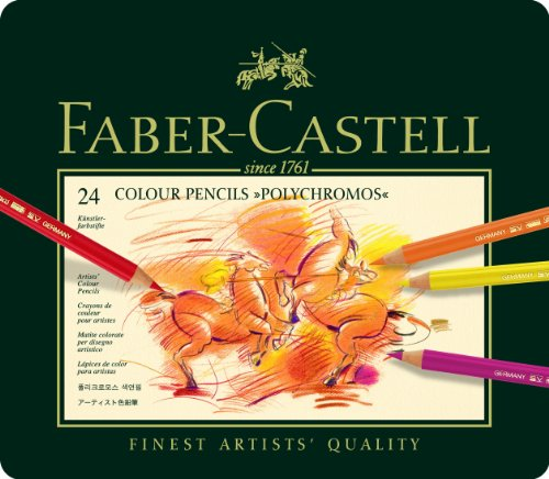 Faber-Castell 110024 - Künstlerfarbstift POLYCHROMOS, 24er Metalletui