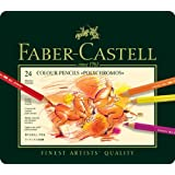 Faber-Castell Polychromos Colour Pencils Tin Of 24by Faber-Castell