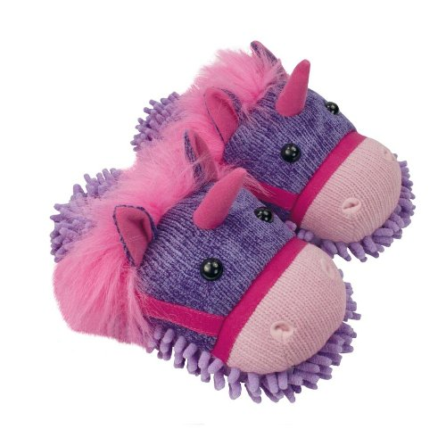 Fuzzy Friends Unicorn Slippers Fs10-0030 Multi By Aroma Home