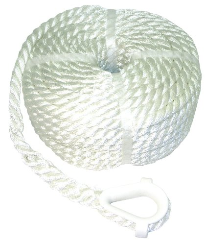 Invincible Marine BR52708 AnchorLine 3/8-Inchx50-Feet 3-Strand Nylon Marine Grade Nylon Ropes