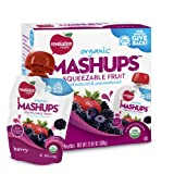 Revolution Foods Organic Mashups Squeezable Fruit, Berry, 4 count,  3.17 oz Packets, (Pack of 6) ~ Revolution Foods