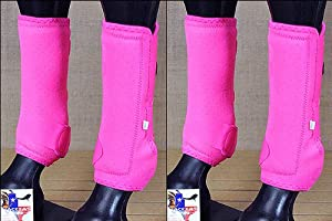 F11 Med Tough1 Front Rear Leg Extreme Vented Sports Medicine Horse Splint Boots by HILASON