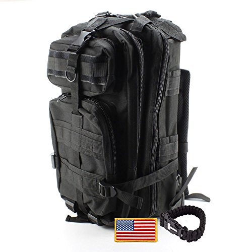 Military Backpack ideal for Outdoor, Hiking, Camping, Backpacking and Hunting - 30L Army Survival Molle Rucksack
