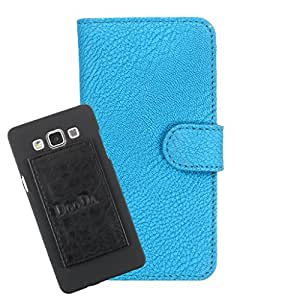 DooDa PU Leather Wallet Flip Case Cover With Card & ID Slots For Intex Aqua 3G Strong - Back Cover Not Included Peel And Paste