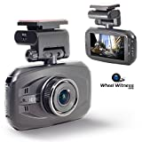 WheelWitness HD PRO Dash Cam with GPS - SuperHD 2560x1080P & 1296P 170° Lens - Lane Departure & Accident Warning - 16GB microSD - For 12V Cars & Trucks - Night Vision Dashboard Camera Ambarella A7LA50 Car Security DVR WDR Motion Sensor G-Sensor