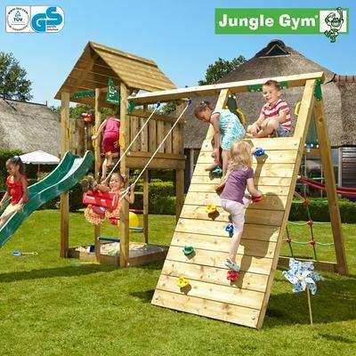 Jungle Gym Janniks CABIN – Spielturm Set mit Kletterwand und Rutsche – Grün kaufen