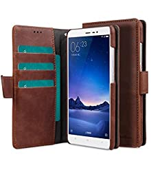 Melkco Wallet Book Type Mini PU Leather Case For Xiaomi Redmi Note 3 (Classic Vintage Brown PU)